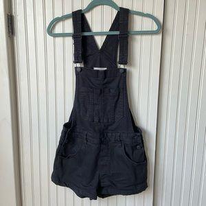 Black Pacsun Brand Short Overalls Shortalls